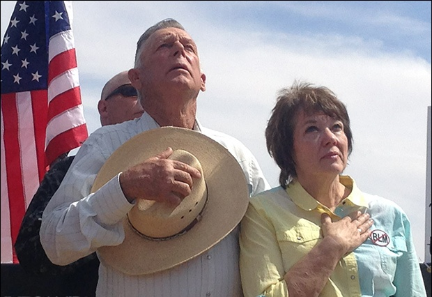 Rancher Cliven Bundy exposes states rights issue as he defies BLM in Clark County, Nevada.  12 ap 2014